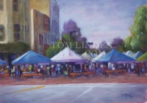 "Saturday in Beloit; Oil on Canvas Panel 9"" x 12"""