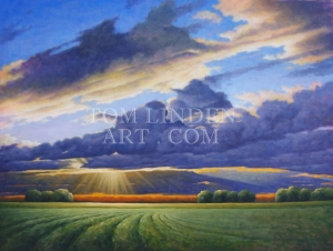 """Clearing Skies; Oil on Canvas 36"""" x 48"""""""
