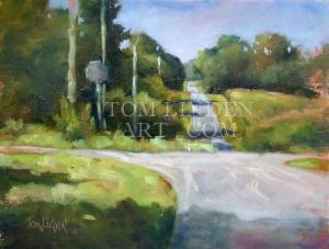 """Wheeler Road; Plein Air Oil on Canvas 11"""" x 14"""""""