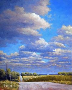 "Clouds Along Wheeler 2 - Oil on Canvas - 20"" x 16"""