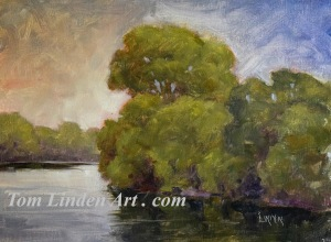 Bend at Bauman - Plein Air - Oil on Canvas Panel - 8 x 10