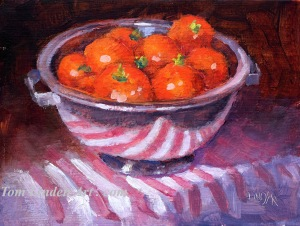 "Tomato Harvest - Oil on Canvas Panel - 6"" x 8"""