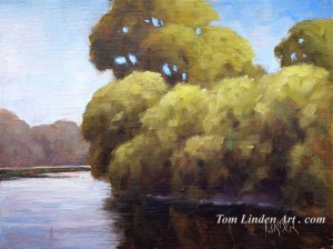 "Rivers Edge - Oil on Canvas Panel - 6"" x 8"""